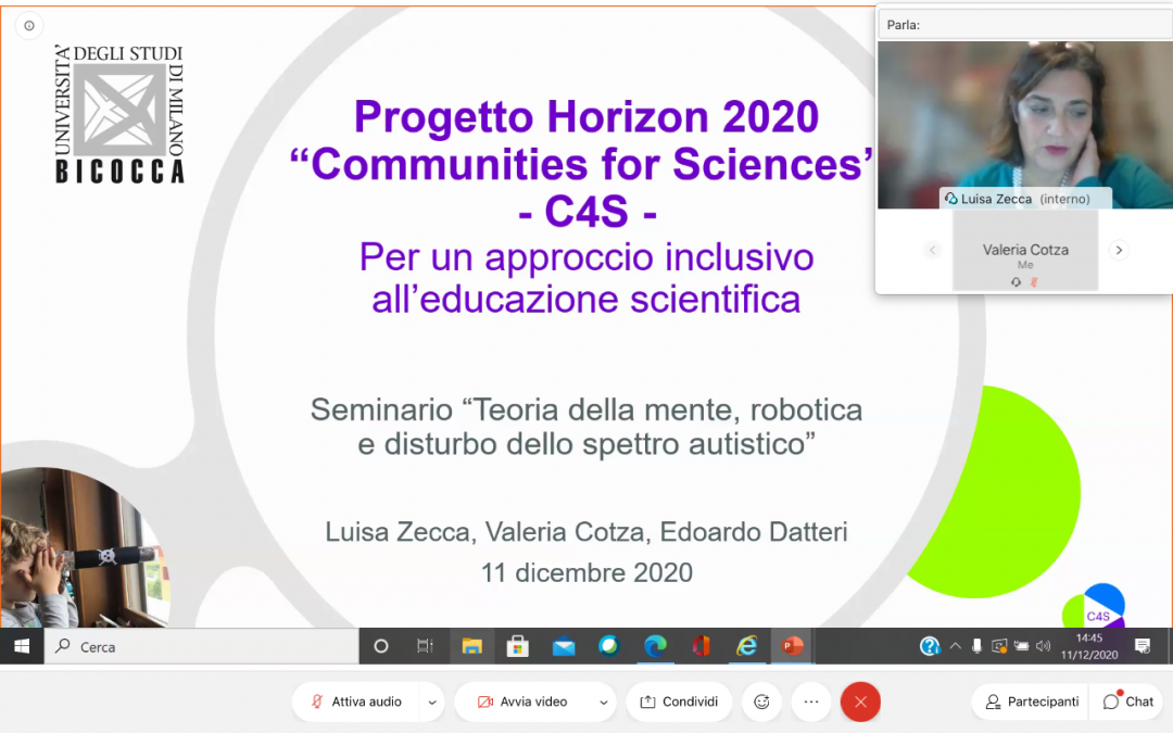 The C4S project was introduced in a seminar on Theory of Mind, robotics and autism spectrum disorder