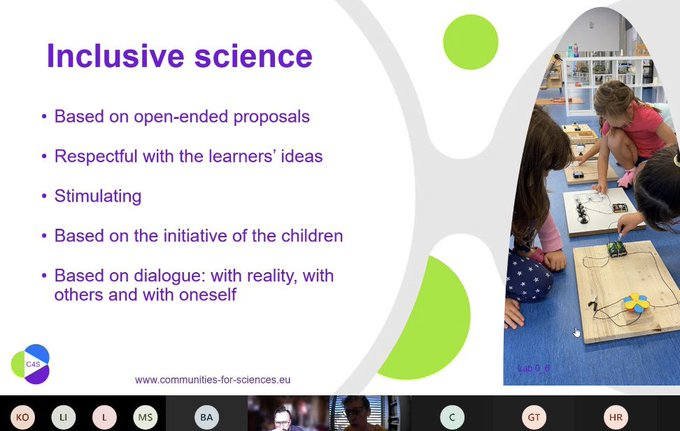 Science and how to do science with children, key themes for the 2nd workshop of the C4S project